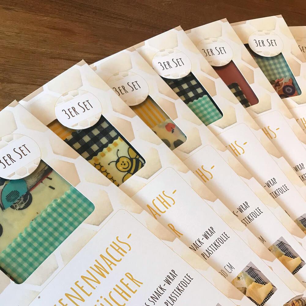 Bienenwachstücher Verpackung annemie.ch als Kundenreferenz von Bacher PrePress