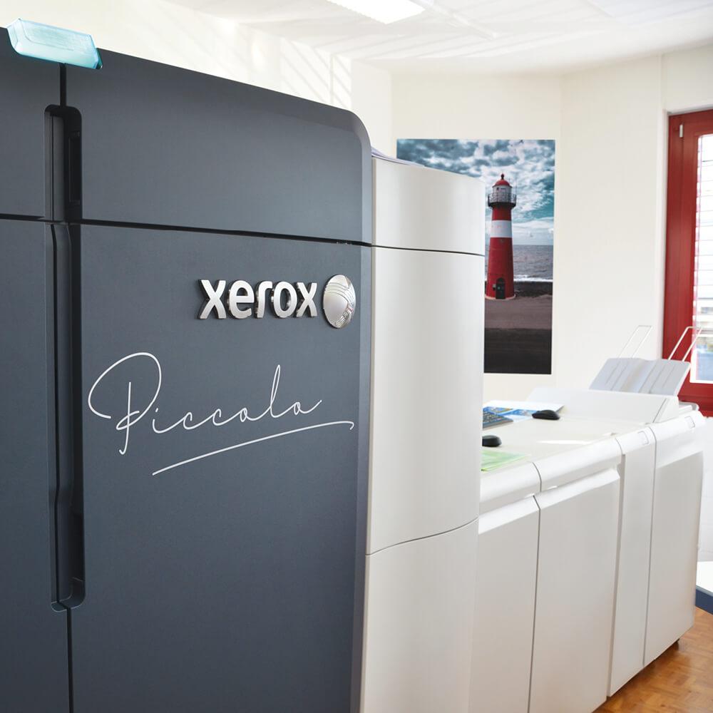 Xerox Iridesse unsere neue Druckmaschine mit Gold, Silber, Lack und Weiss