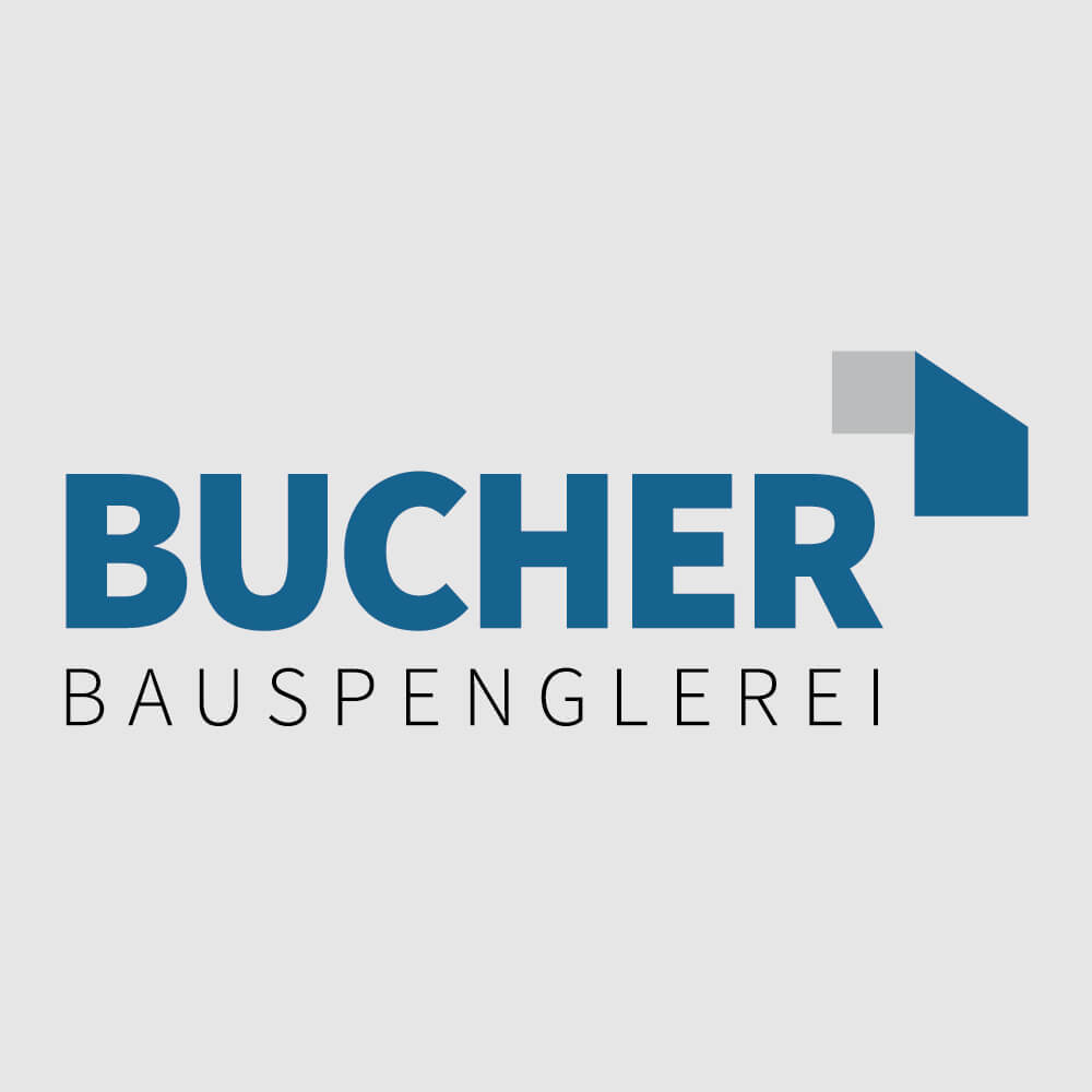 Logo Bucher Bauspenglerei als Kundenreferenz von Bacher PrePress