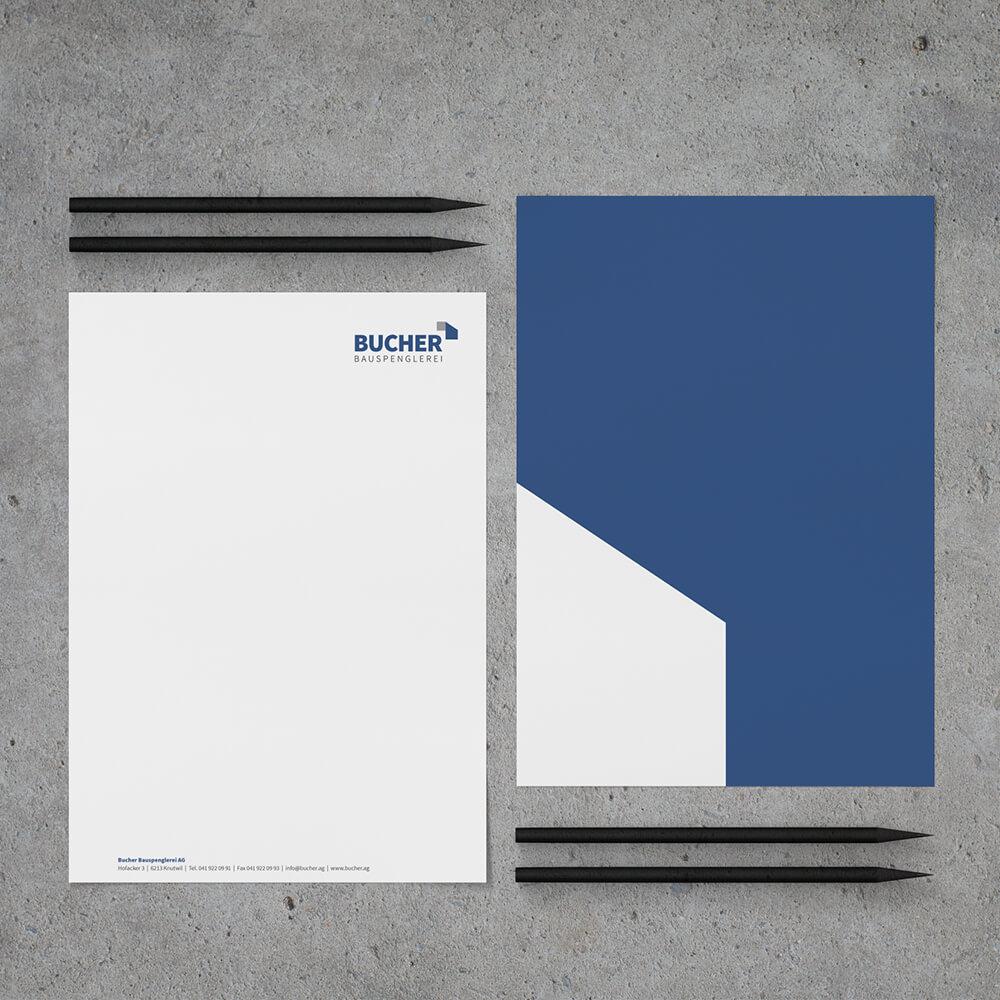 Briefschaften Bucher Bauspenglerei als Kundenreferenz von Bacher PrePress