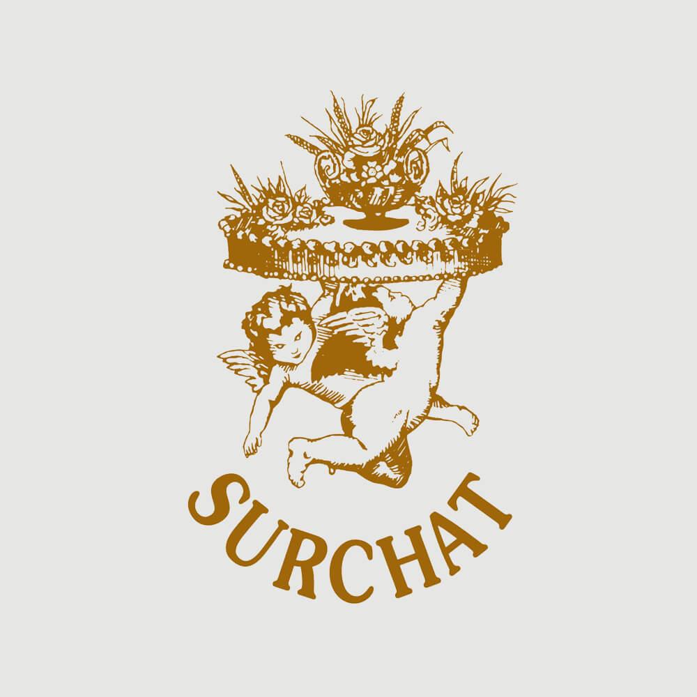 Logo - Confiserie Café Surchat als Kundenreferenz von Bacher PrePress