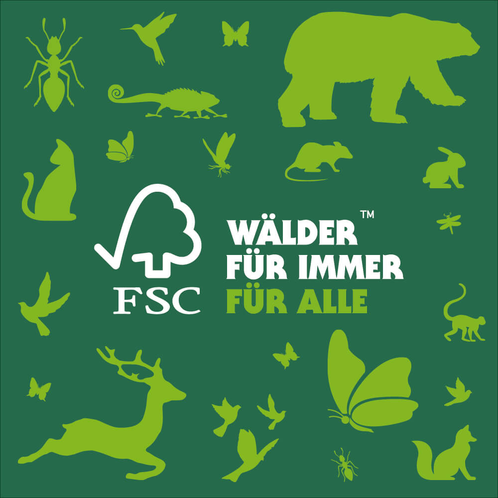 FSC Drucksachen für die Nachhaltigkeit