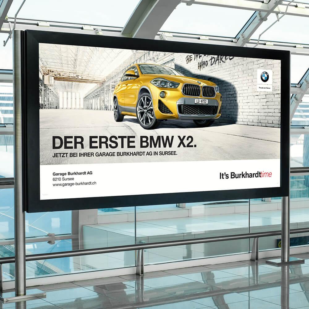 POS BMW Garage Burkhardt als Kundenreferenz von Bacher PrePress