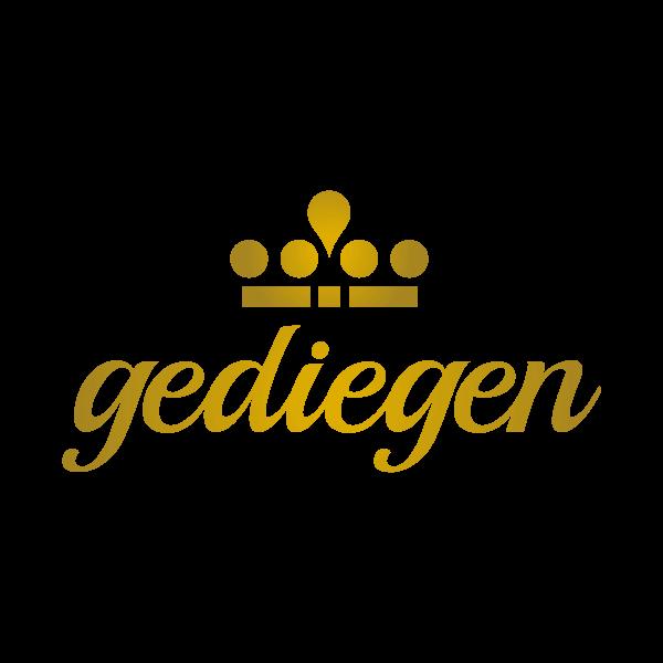 Gediegen Logo für Kundenreferenz von Bacher PrePress