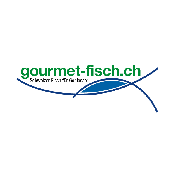 Gourmet-Fisch Logo für Kundenreferenz von Bacher PrePress