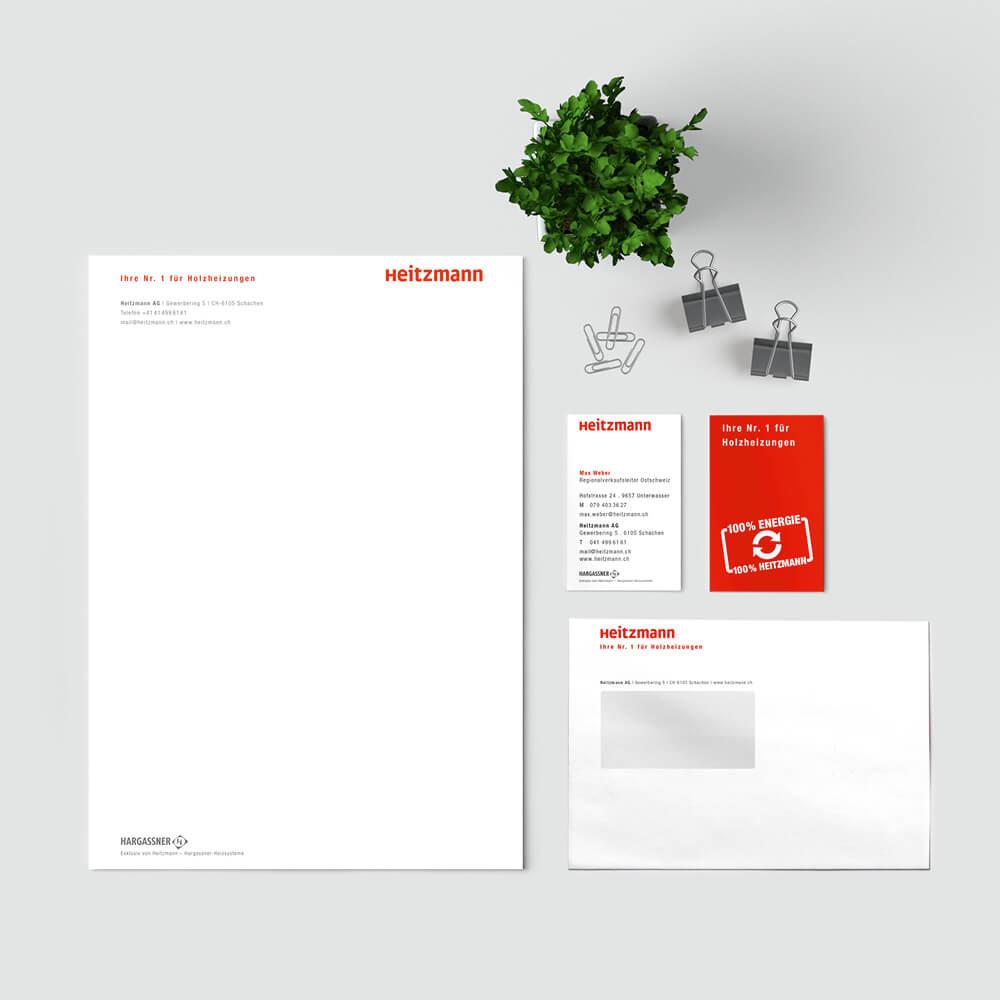 Briefschaften Heitzmann als Kundenreferenz von Bacher PrePress