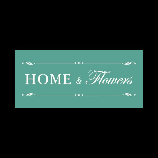 Home and Flowers Logo für Kundenreferenz von Bacher PrePress