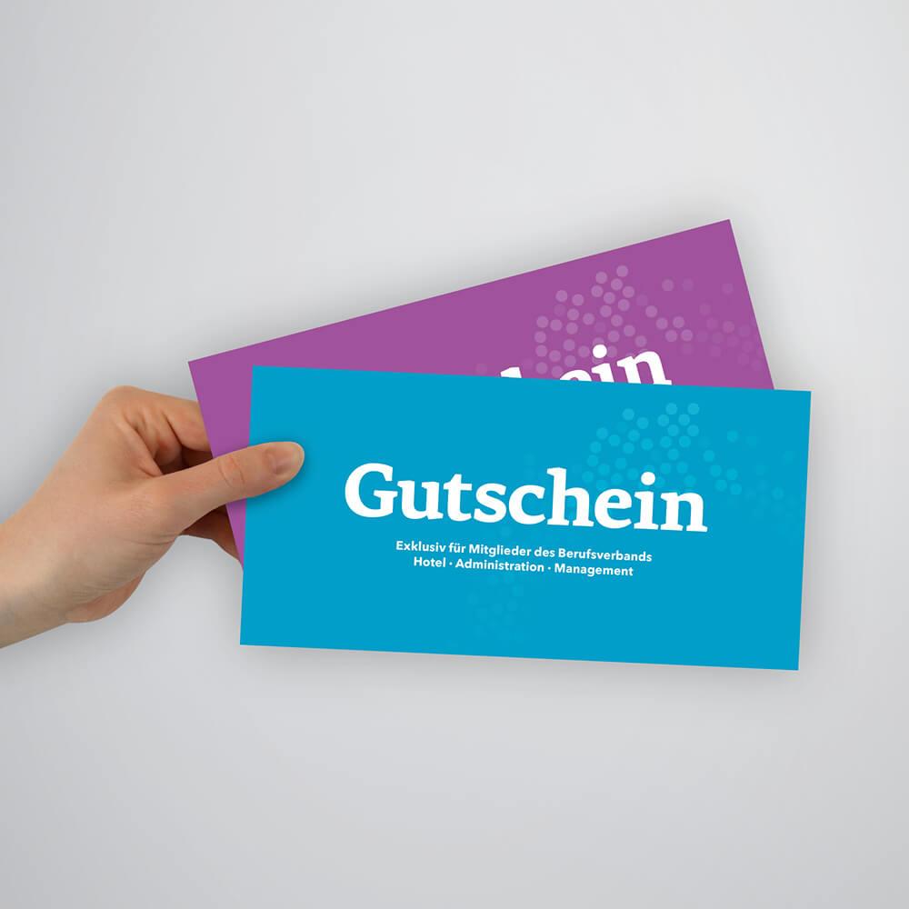 Gutschein Berufsverbände - Hotel & Gastro Union - Kundenreferenz Bacher PrePress