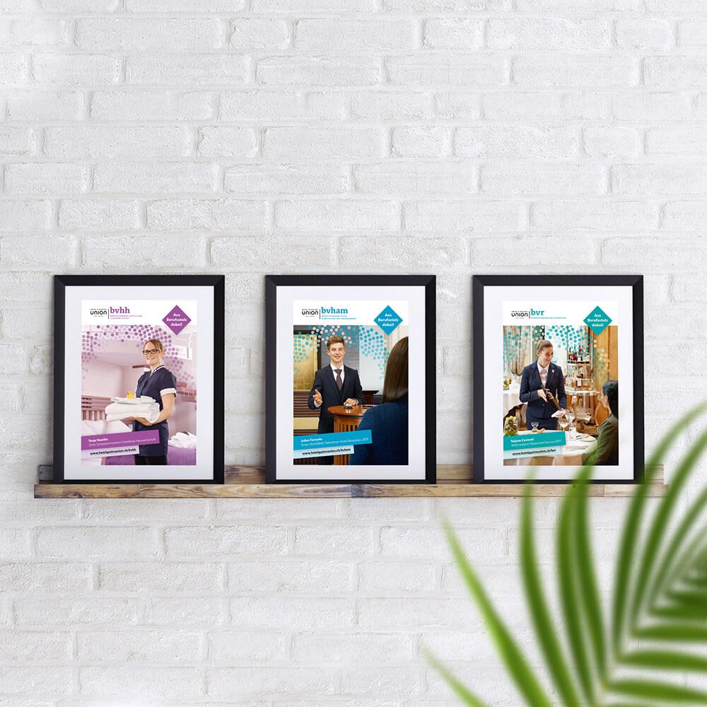 Plakate Berufsverbände - Hotel & Gastro Union - Kundenreferenz Bacher PrePress