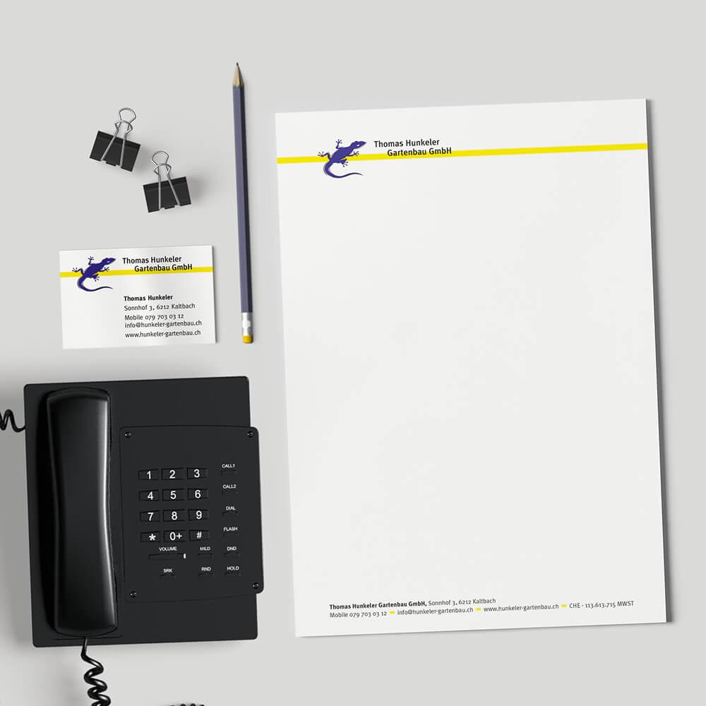 Briefschaften Hunkeler Gartenbau als Kundenreferenz von Bacher PrePress
