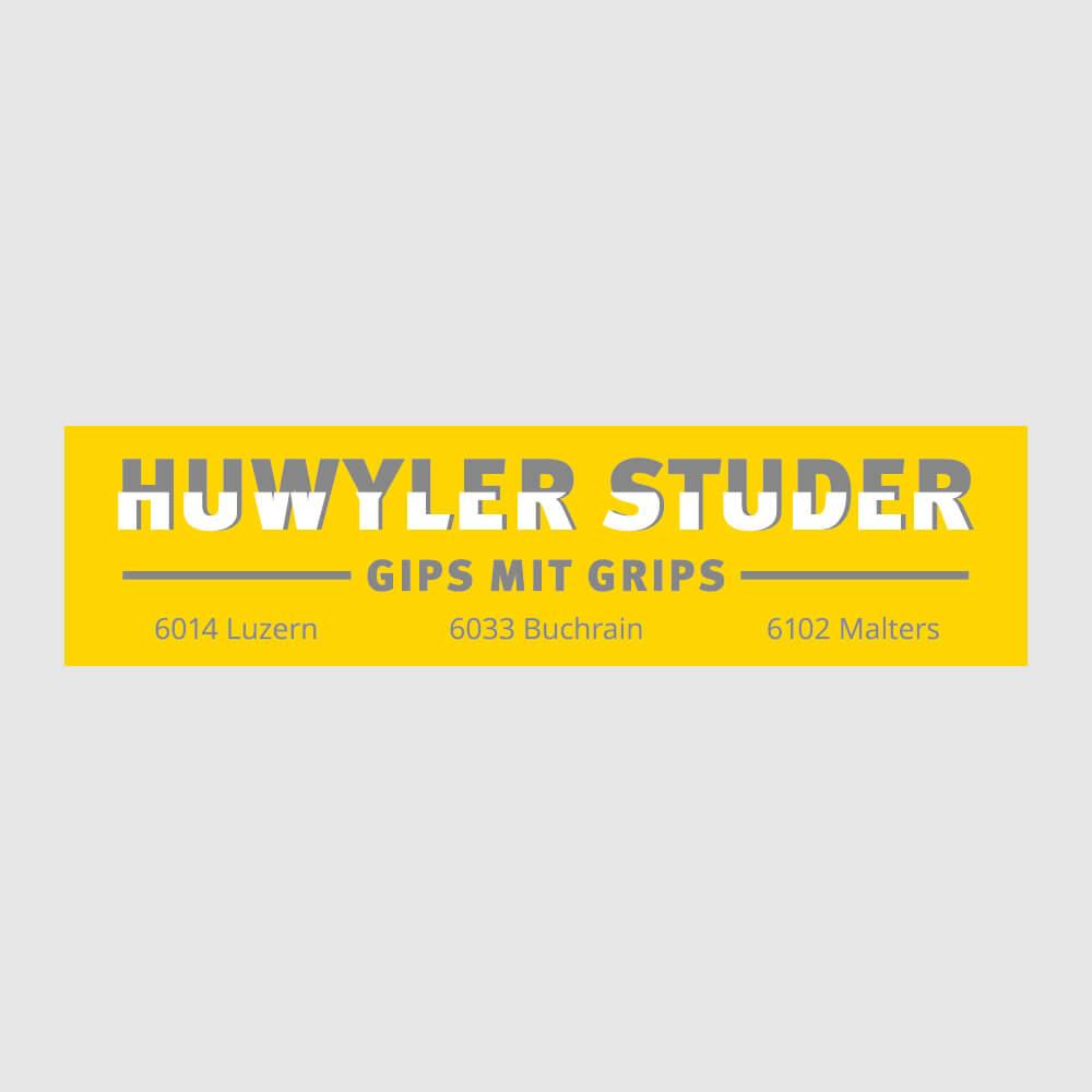 Logo Gipser Studer als Kundenreferenz von Bacher PrePress
