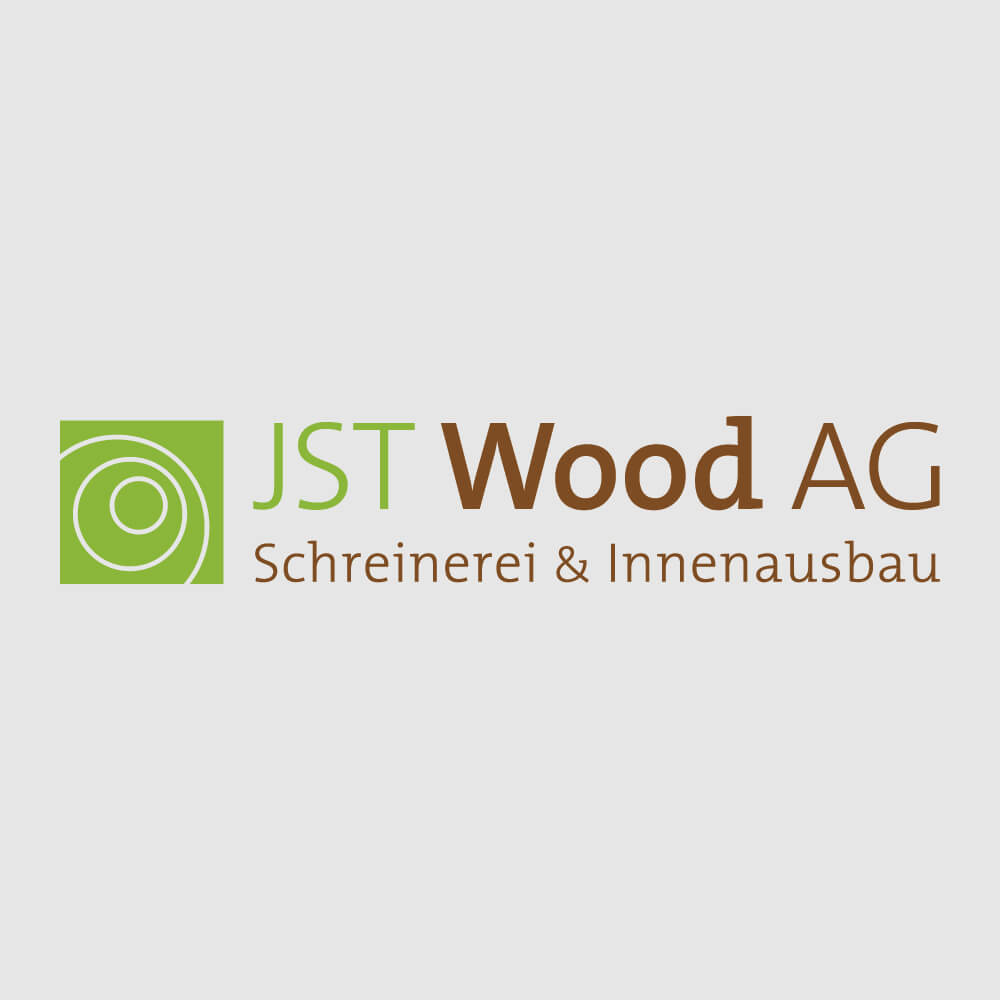 Logo JST Wood als Kundenreferenz von Bacher PrePress