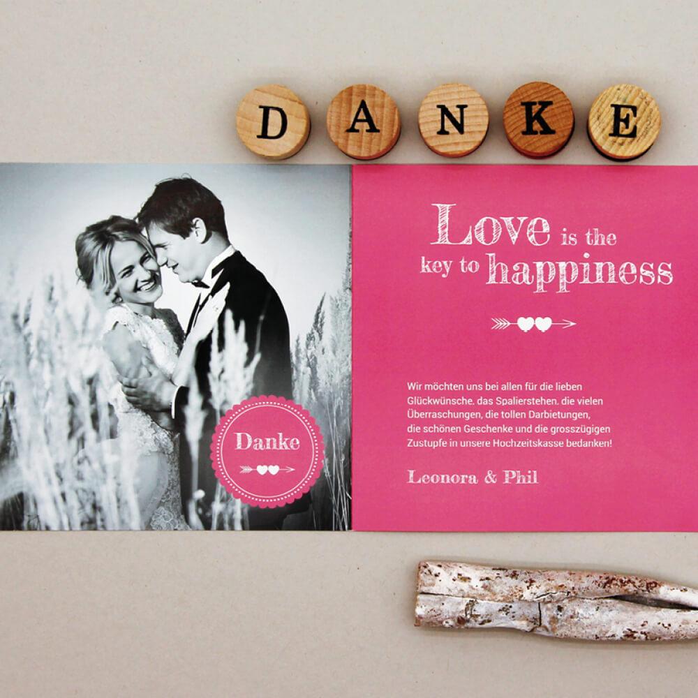 Hochzeitskarte kartenmacher.ch als Kundenreferenz von Bacher PrePress
