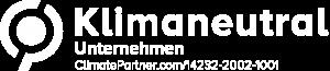 Klimaneutrales Druckprodukt Logo weiss von Bacher PrePress