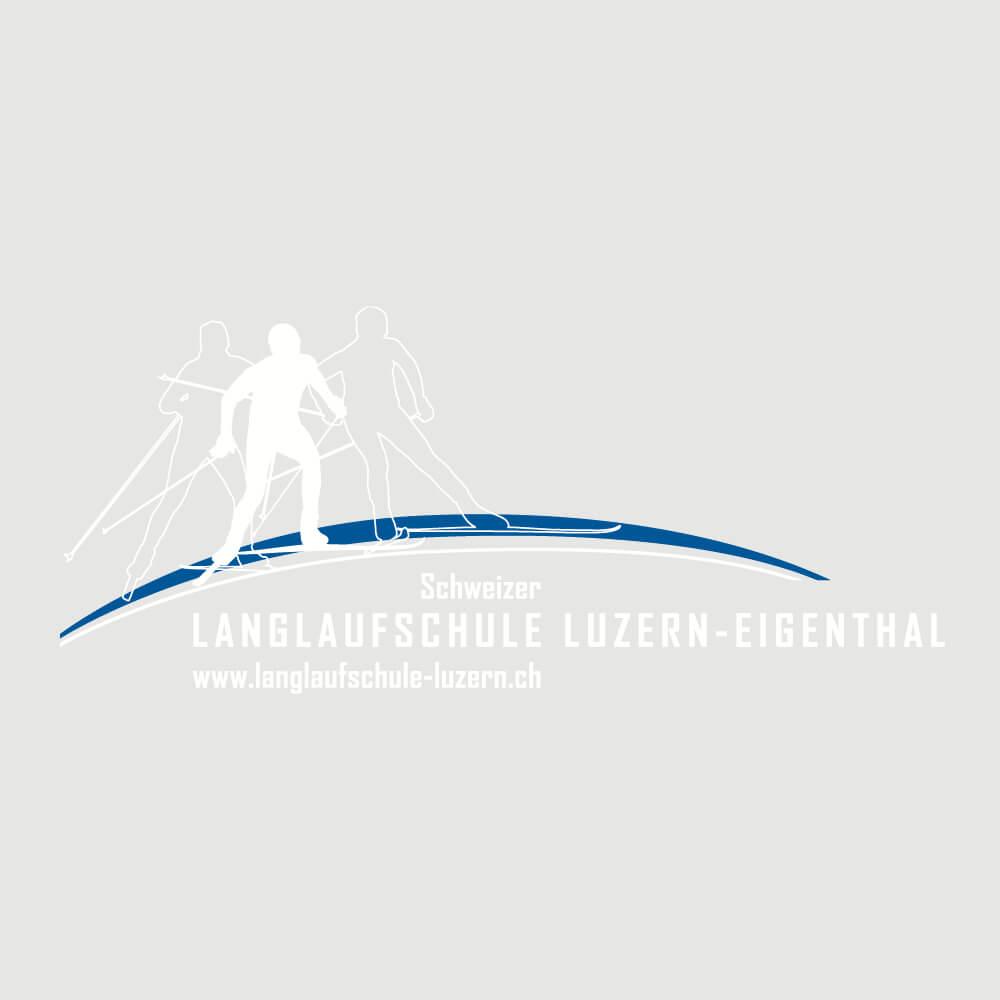 Logo Langlaufschule Luzern als Kundenreferenz von Bacher PrePress