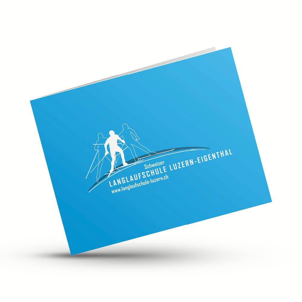 Karte Langlaufschule Luzern als Kundenreferenz von Bacher PrePress
