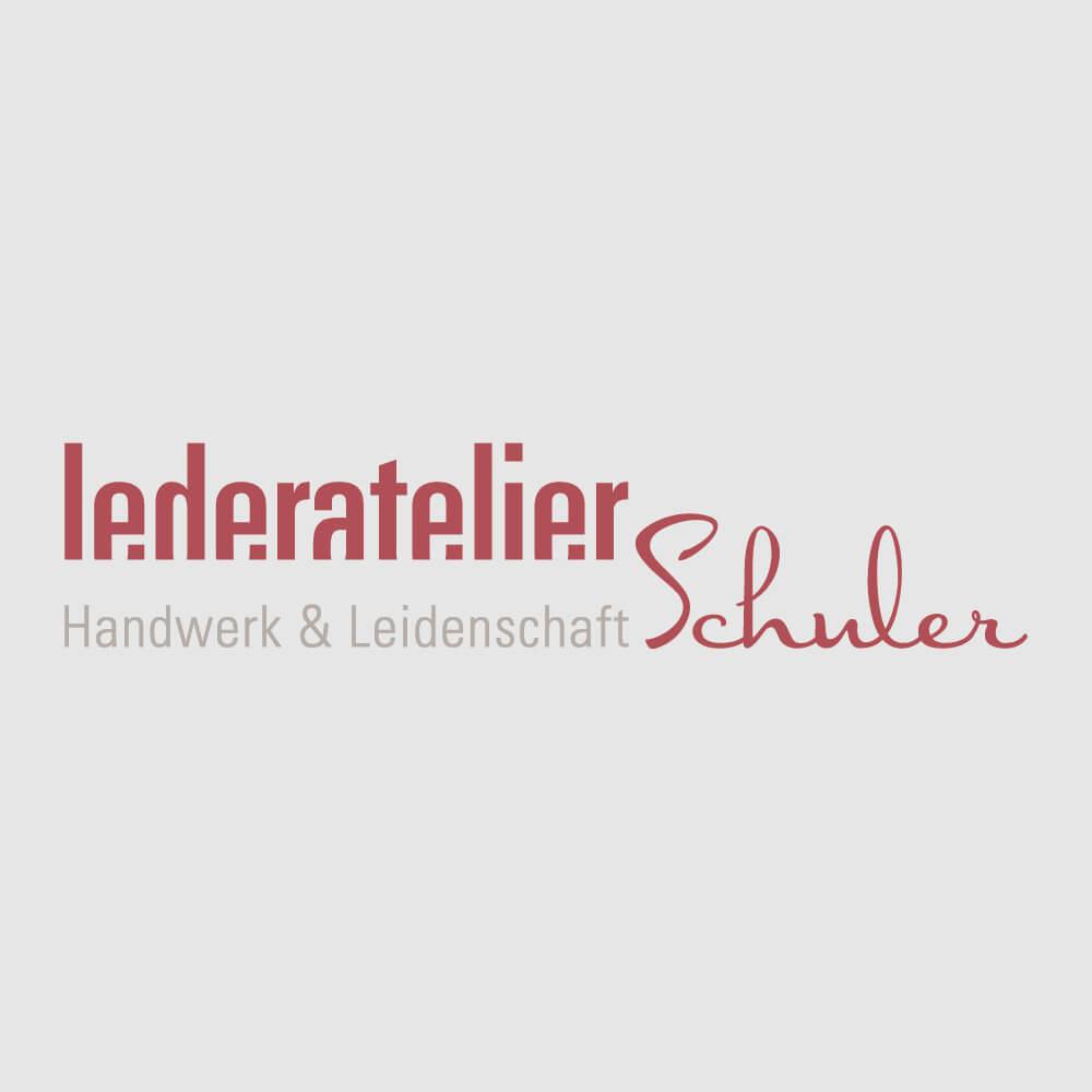 Logo Lederatelier Schuler als Kundenreferenz von Bacher PrePress
