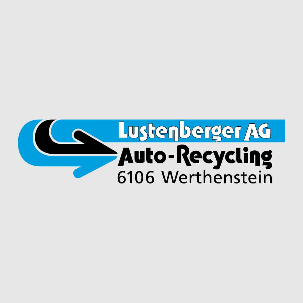 Logo Lustenberger Autoverwertung als Kundenreferenz von Bacher PrePress