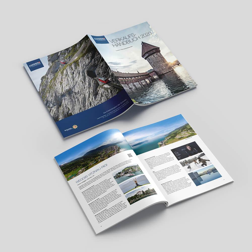 Verkaufshandbuch - Luzern Tourismus als Kundenreferenz von Bacher PrePress