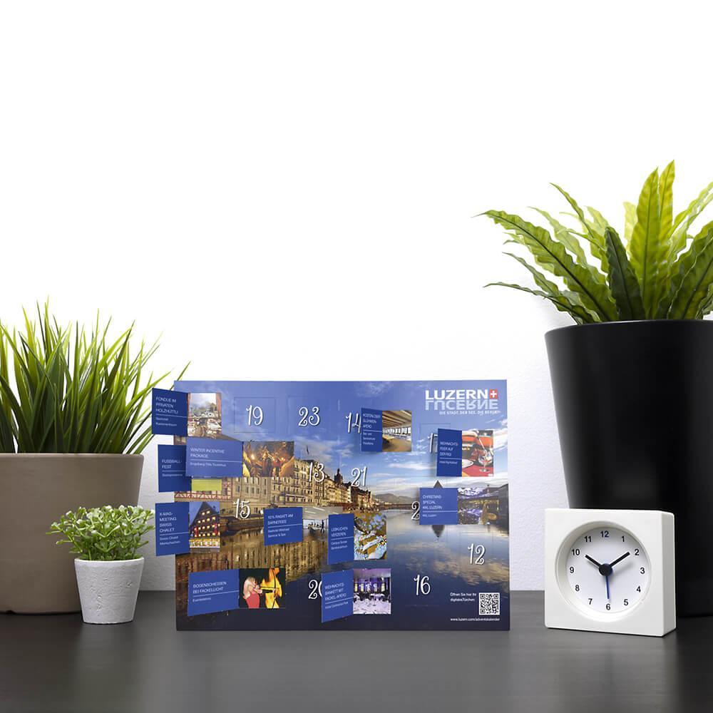 Adventskalender - Luzern Tourismus als Kundenreferenz von Bacher PrePress