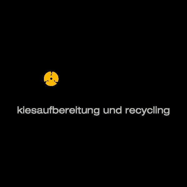 Mühlebach Kiesaufbereitung Logo für Kundenreferenz von Bacher PrePress