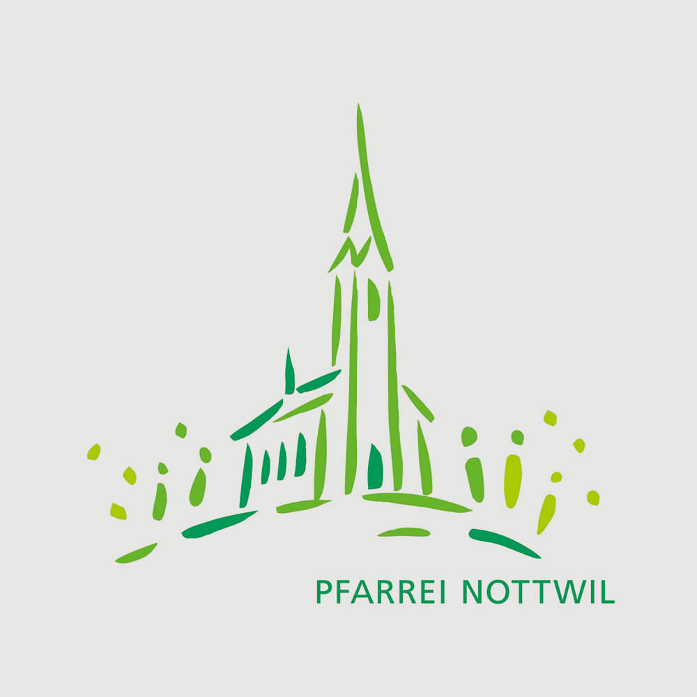 Logo Pfarrei Nottwil als Kundenreferenz von Bacher PrePress
