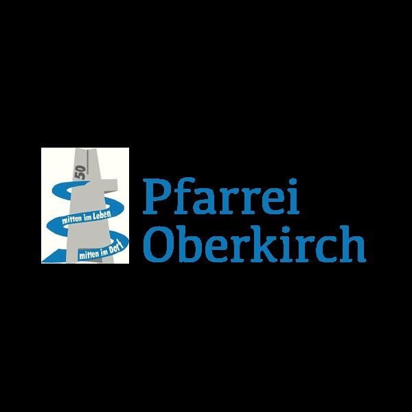 Pfarrei Oberkirch Logo für Kundenreferenz von Bacher PrePress