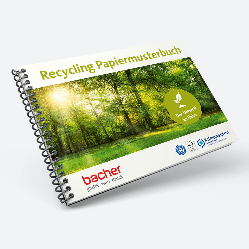 Recycling Papiermusterbuch Klimaneutral