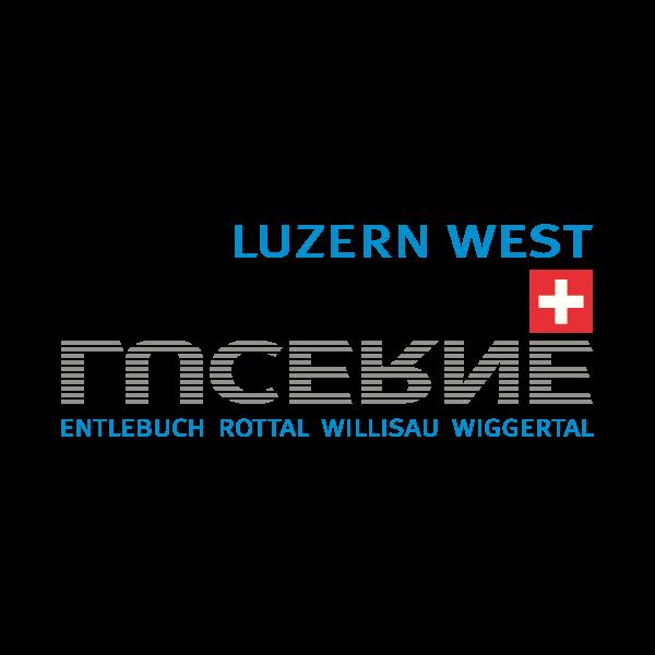 Region Luzern West Logo für Kundenreferenz von Bacher PrePress