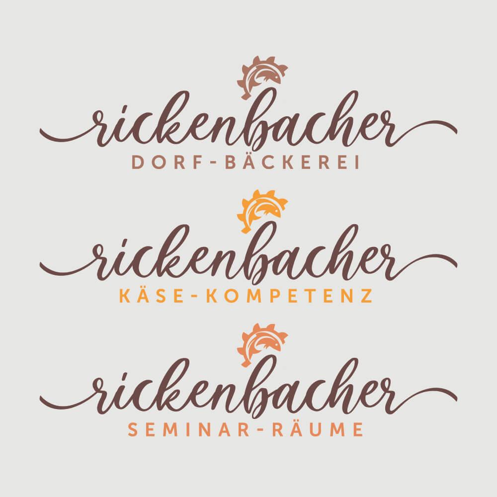 Logokreation - Rickenbacher Dorfwirtschaft - Kundenreferenz Bacher PrePress