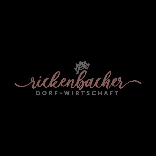 Rickenbacher Dorf-Wirtschaft Logo für Kundenreferenz von Bacher PrePress