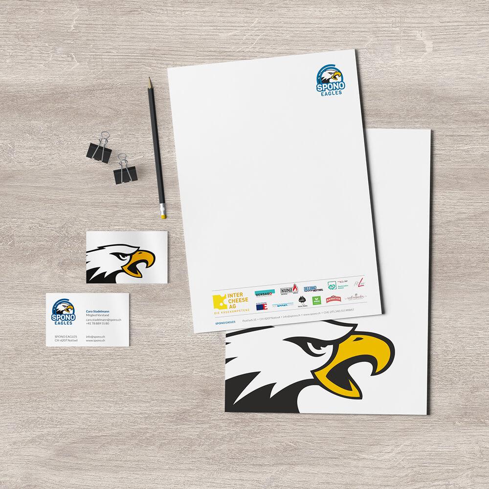 Drucksachen - Spono Eagles - Kundenreferenz Bacher PrePress