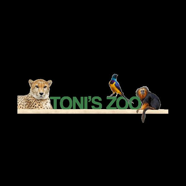 Tonis Zoo Logo für Kundenreferenz von Bacher PrePress