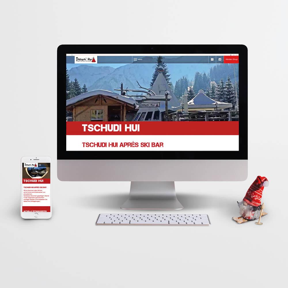 Website - Tschudi Hui Sörenberg - Kundenreferenz Bacher PrePress