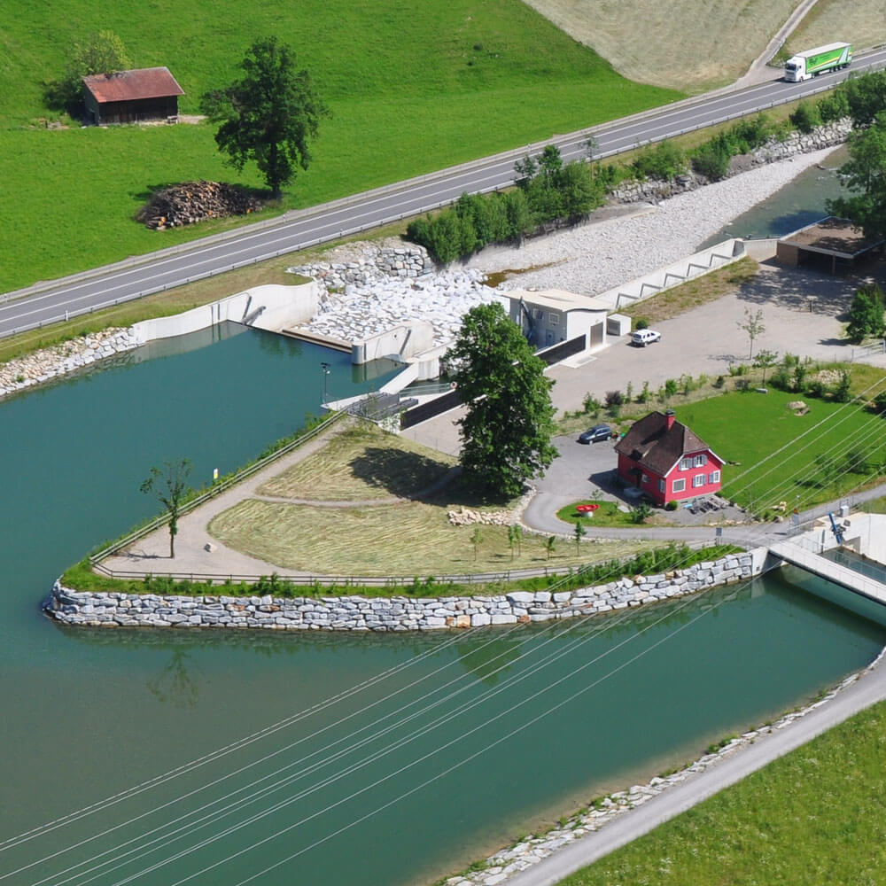 Naturstrom Wasserkraft - Wasserkraftwerk Ettisbühl Malters