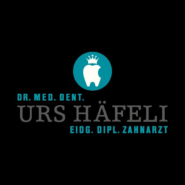Zahnarztpraxis Häfeli Logo für Kundenreferenz von Bacher PrePress