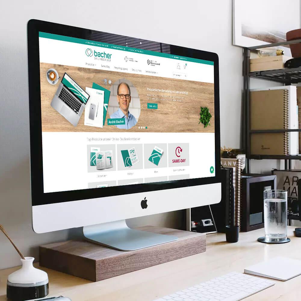 Onlineprint Druckportal von Bacher PrePress