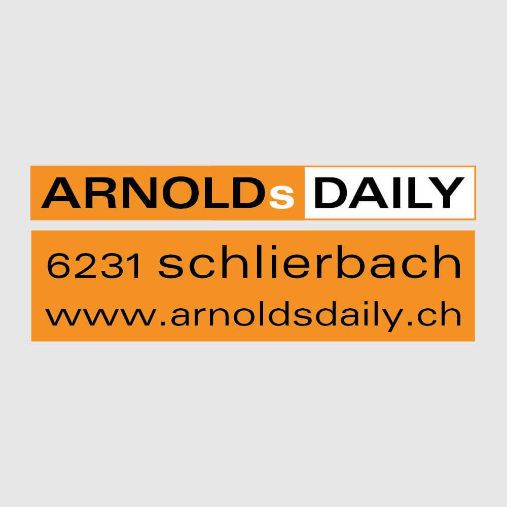 Logo Arnols Daily Schlierbach als Kundenreferenz von Bacher PrePress