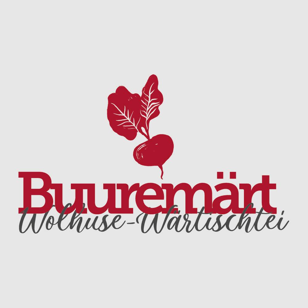 Logo Buuremärt Wolhusen als Kundenreferenz von Bacher PrePress