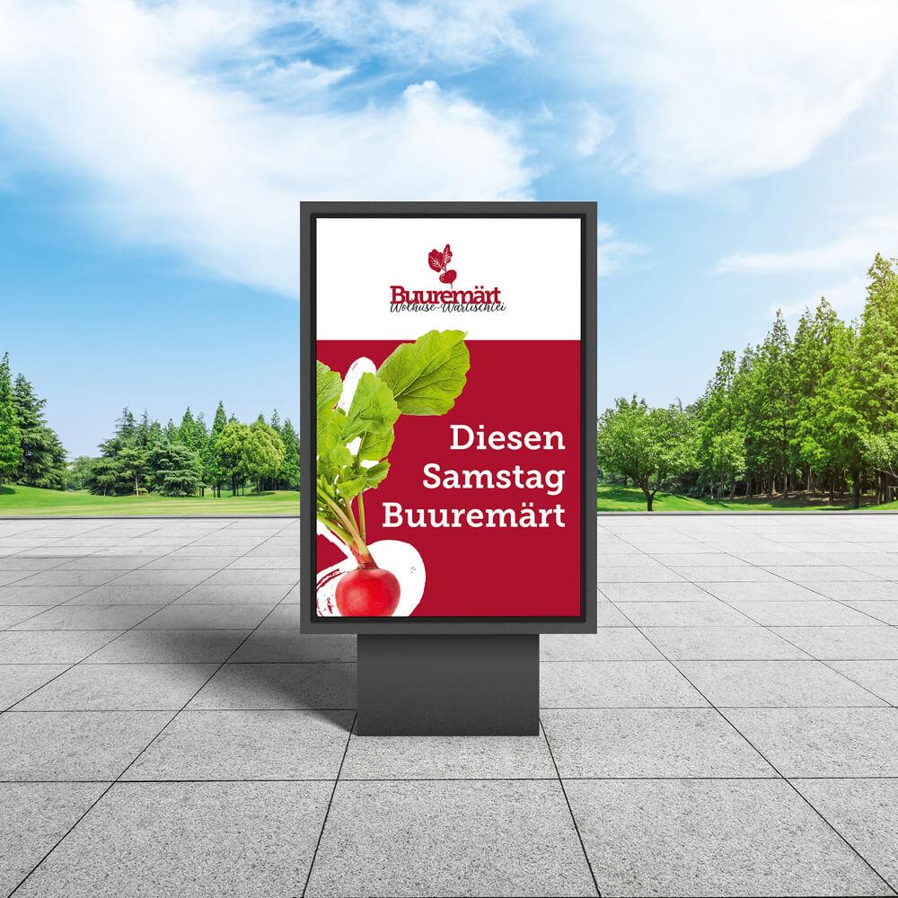 Plakat Buuremärt Wolhusen als Kundenreferenz von Bacher PrePress