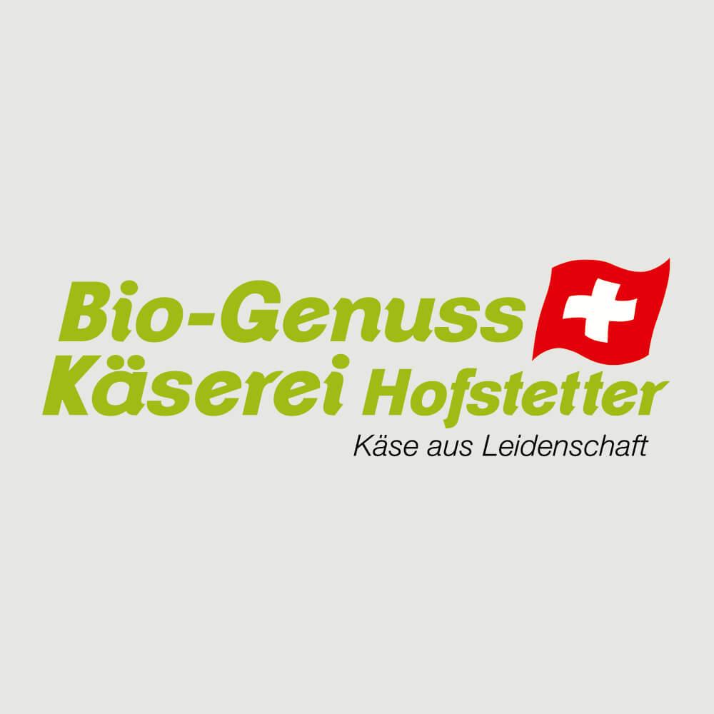 Logo Bio Genuss Käserei Hofstetter als Kundenreferenz von Bacher PrePress