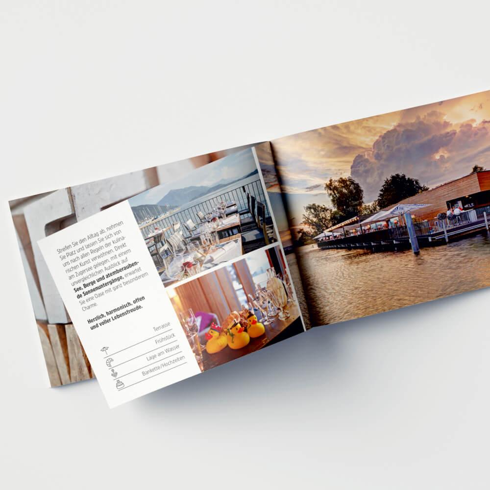 Imagebroschüre Remimag Gastronomie als Kundenreferenz von Bacher PrePress