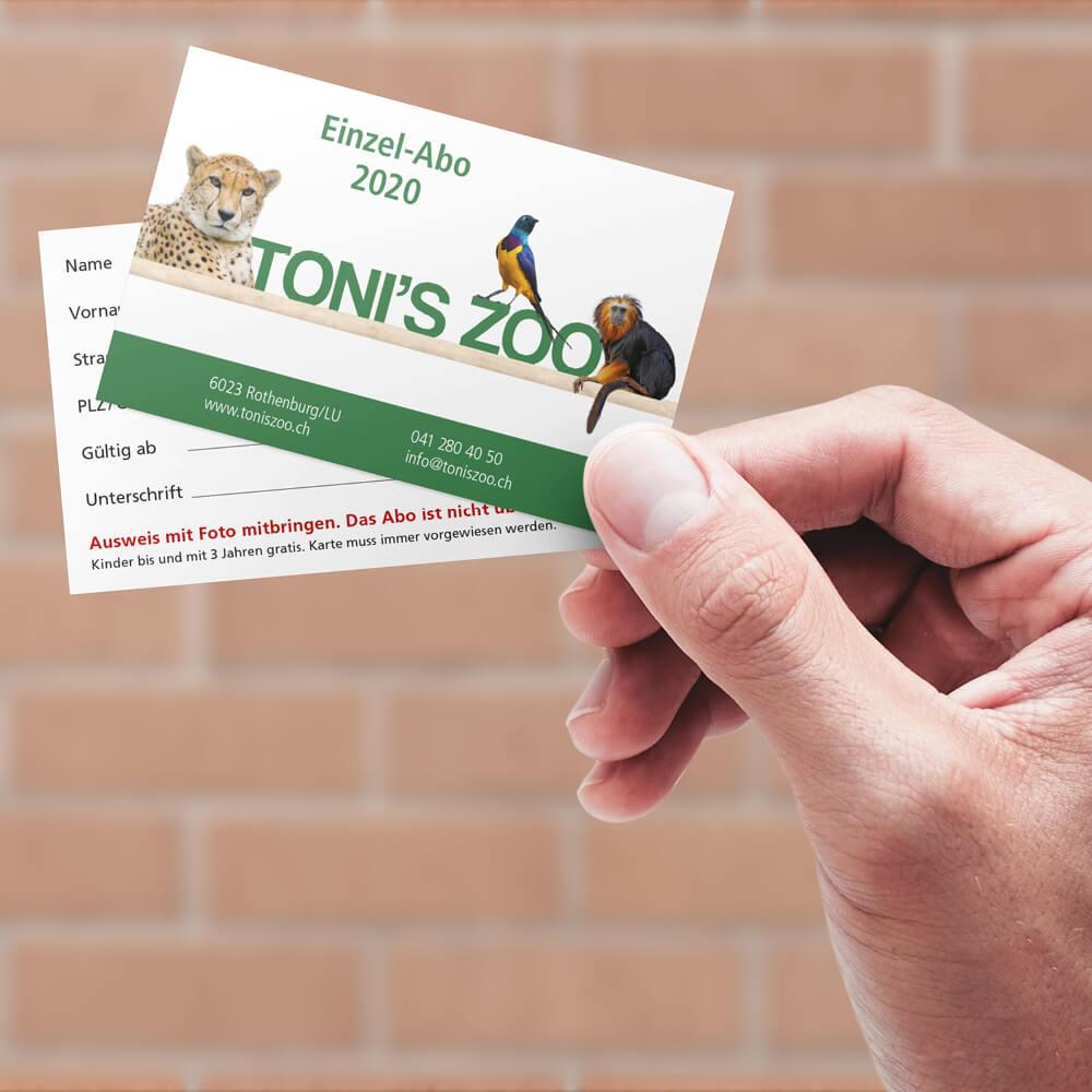 Einzel-Abo Tonis Zoo Rothenburg als Kundenreferenz von Bacher PrePress
