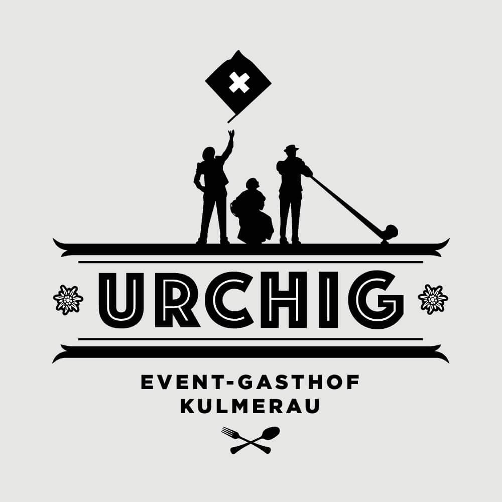 Logo Urchig Event Gasthof Kulmerau als Kundenreferenz von Bacher PrePress